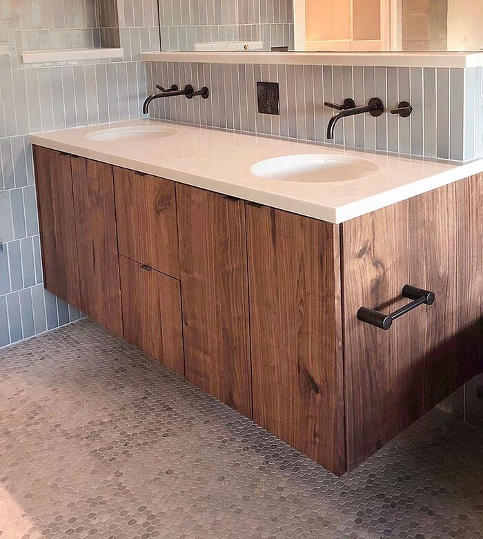 Waschtisch aus Holz, Schwebend, im Badezimmer Schenk Schreiner Gießen